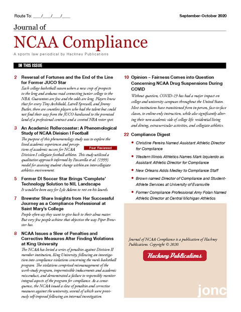 Journal of NCAA Compliance